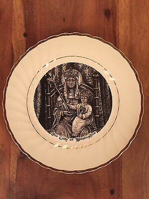 Our Lady Of Walsingham/ Virgin Mary Plaque/plate With Gold Detail
