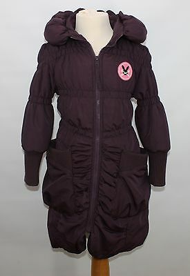 No ADDED SUGAR purple padded winter coat age 7-8 years