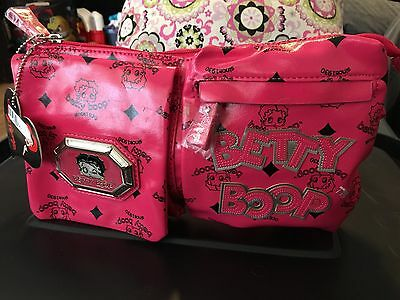 Womans Betty Boop Brand Purse Hot Pink Brand New W/tags