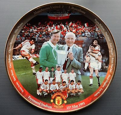Man Utd 1991 ECWC Danbury Mint Plate Manchester United European Cup Winners Cup