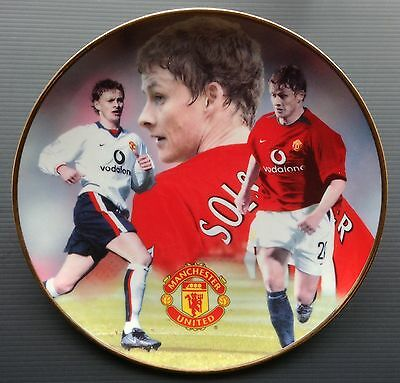 Ole Gunnar Solskjaer Man Utd Danbury Mint Plate COA and Box Manchester United