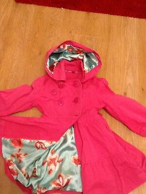 Ted Baker, girls pink coat, age 5 years