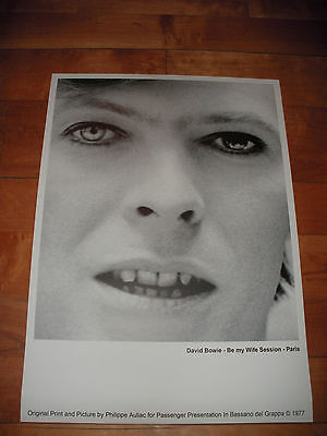 ORIGINAL PRINT DAVID BOWIE - Be my Wife Session PHILIPPE AULIAC POSTER AFFICHE