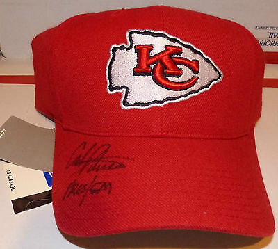 "Carl Peterson ""Pres/GM"" Autograph Hat Signed Kansas Cith Chiefs Cap RARE AUTO"