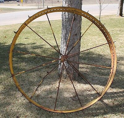Antique Irrigation Wheels Metal LARGE Wagon Wheels