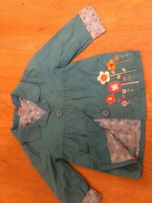 Mini Mode, girls coat, age 2-3 years, good condition, turquouise green