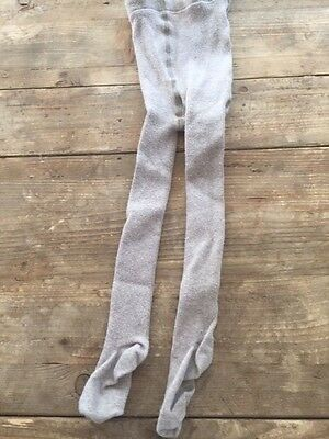 Hanna Andersson Girls Textured Light Brown/Heather Tights Size 80 (18 Mos - 2T)