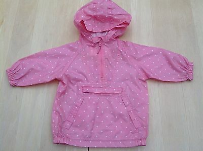 Girls Pumpkin Patch Pink Spotted Cagoule 2 Years