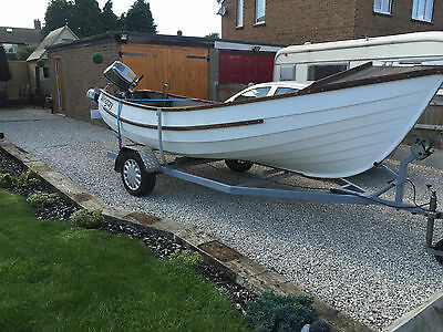 Hornsea Pebble 16Ft Fishing Boat With 15Hp Honda Engine Spinning Piking