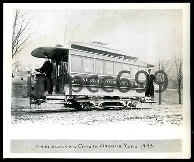 Oneonta & Otego Valley R.R. First Electric Cars in Oneonta Year 1898