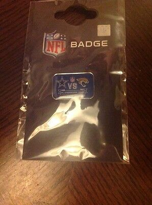 NFL International Series Pin Badge - Dallas Cowboys vs Jacksonville Jaguars 2014