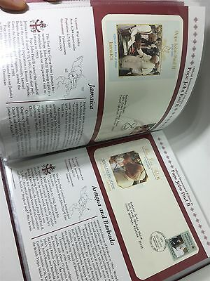 Pope John Paul II International Tribute 52 Pc Stamp Collection Book First Day