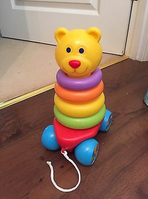 FUN TIME - 2 in 1 Teddy Stacker & Pull Along Toy
