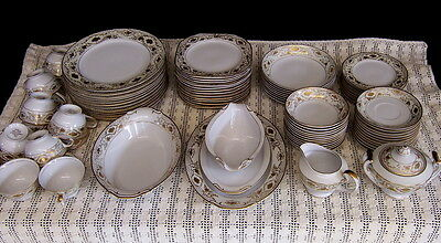 Vintage Set of Gold Coast China Dinnerware Service for 12 Made in Japan