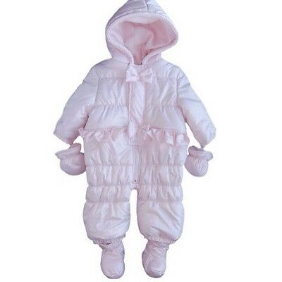 Gorgeous Brand New Baby Pink Snowsuit Age 6 Month