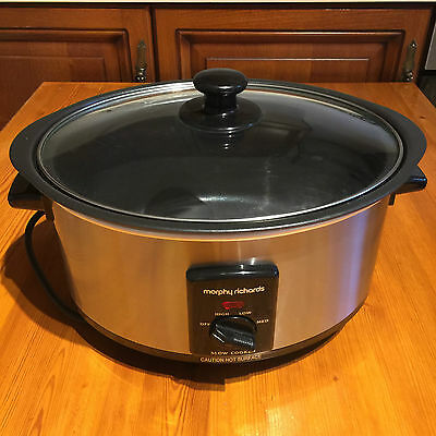 Morphy Richards Slow Cooker 3.5L, Excellent Condition, Stainless Steel