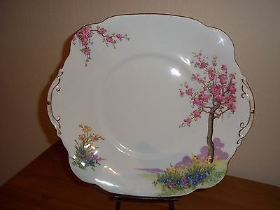 "Vintage Standard China bone china sandwich plate, ""Springtime"" good used cond'n"