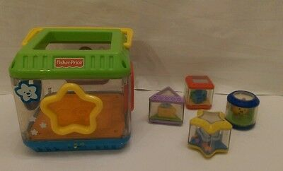Fisher-Price Musical Peek a Blocks Shape Sorter Bucket