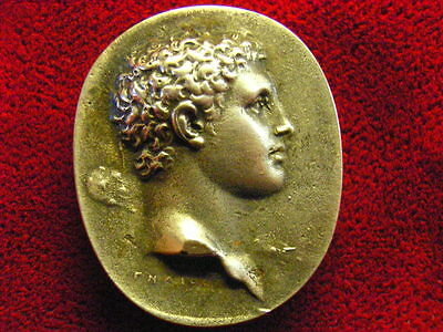 Grand Tour sterling silver cameo intaglio gem james tassie glass antinous