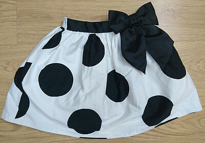 Next Girls Skirt Age 6-7 Years 122Cm White Spotted