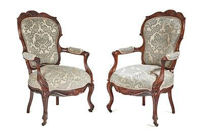 Fine Pair Of 19Th Century French Rosewood Armchairs