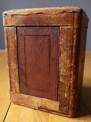 Antique/Vintage Carriage Clock Travel Case with Red Velvet Lining