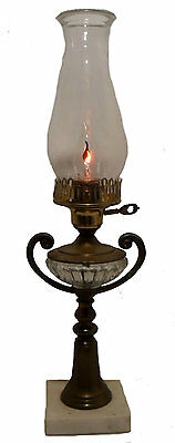 Antique Table Lamp Aladdin Style Table Side Lamp Accent Lighting