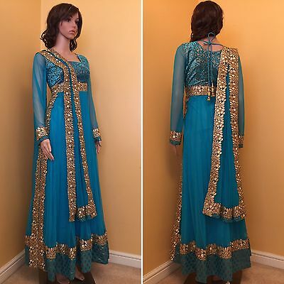 Readymade Asian,Indian,Pakistan,Anarkali SuitUK SIZE 12 (bust size-40,length-57)