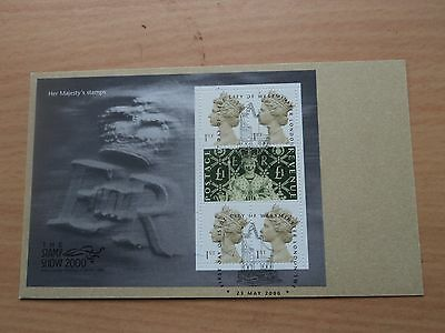 GB 2000 Stamp Show Her Majesty's Stamps Sheet FDC Postmark Westminster On Card