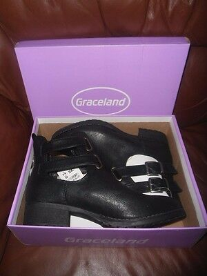 Ladies Graceland Black Boots Size 5.5 (39) New with Box