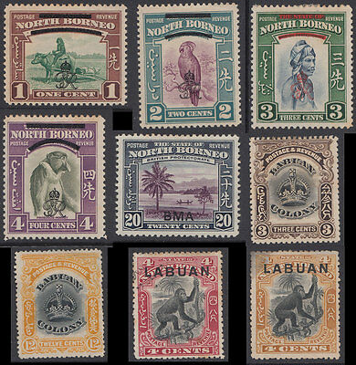 North Borneo & Labuan Selection Mint and MNG