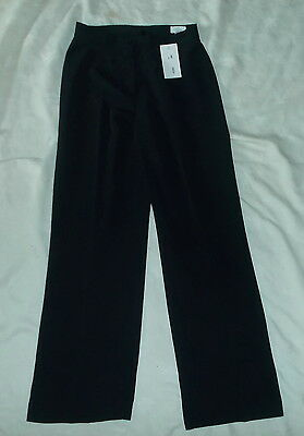 "BNWT ""Elegance"" Black French Boutique Black Silky Fabric Trousers Size 10"