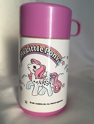 Vintage 1987 Hasbro My Little Pony Collectible Lunchbox Thermos By Aladdin GUC