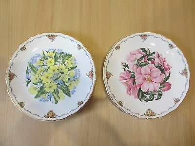 Royal Albert Queen Mother's Favourite Flowers plates 3 & 4 with certificates