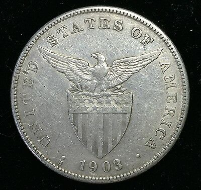1903s Peso US-Philippines  Silver Coin - lot#8A