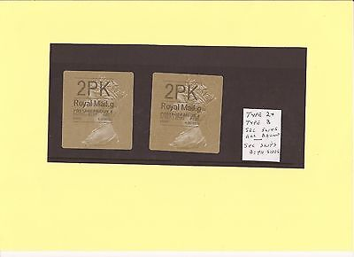 Pair  2PK Type 2 Security Slits 4 sides T3 Slits sides only pristine off Paper