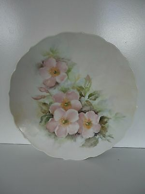 Hand Painted Floral Decorative Plate