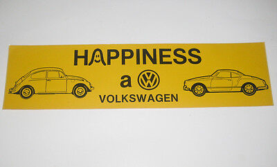 Vintage Volkswagon VW Bug Karmann Ghia Bumper Sticker 11.5 X 3""