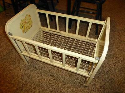 Vintage 1950's Metal Amsco Doll-E-Crib Bed W/ Adjustable Side Rail Adorable