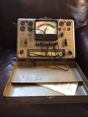 Vintage Triplett 3413 Tube Tester with case - tested and working!