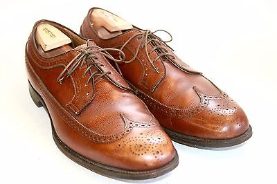 Alden of New England Brown Leather Pebbled Wing Tip Dress Shoe SZ 14 A/C