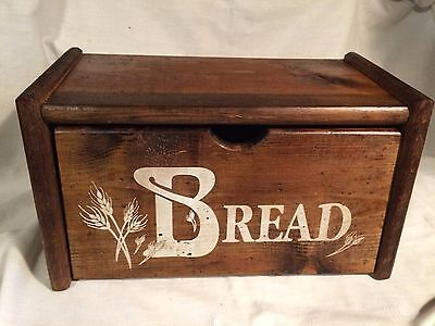 Vintage Wood Bread Box-Country-Cottage
