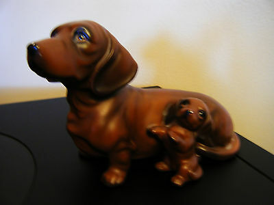Dachshund figurine momma and pup