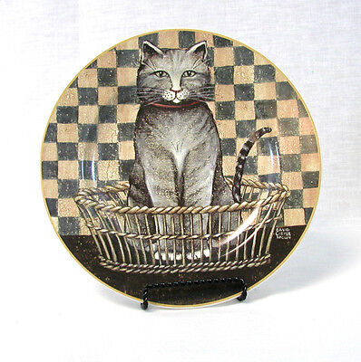D.C BROWN & CO - Country Kittens Plate - Gray Kitten