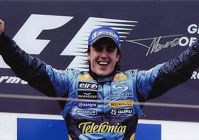Fernando Alonso Signed Renault F1 Photograph with COA