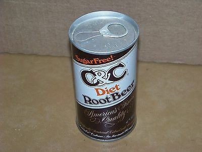 C&C Diet Root Beer pull top soda can