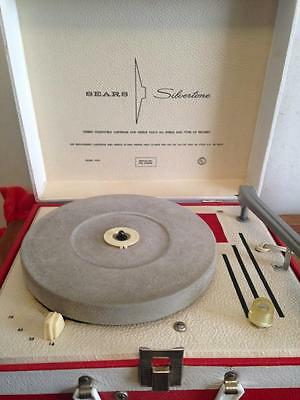 Vintage Sears Silvertone Childs Portable Phonograph Record Player  Model 4250