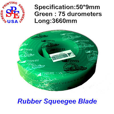 Silk Screen Printing Squeegee Blade Green Scraper 75 Duro Durometers France FIMA