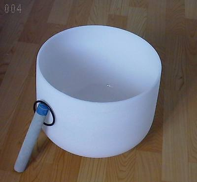 New Frosted Quartz Crystal Singing Bowl 8'' A# Note Pineal Chakra