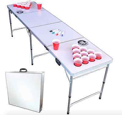 Beer Pong Table Set With Cup Holes Adult Games For Parties Party Drinking Game